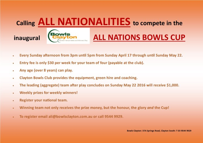 All Nations Cup posters
